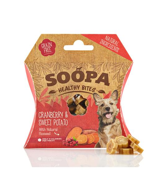 SOOPA - Natural Cranberry & Sweet Potato - Healthy Bites for Dogs 50g