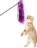 Sparkly Tassel Cat Stick Toys     特色逗貓棒