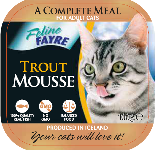 Feline Fayre Trout Mousse Wet Cat Food 100g Tray
