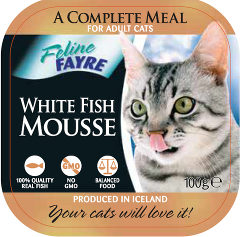Feline Fayre White Fish Mousse Wet Cat Food 100g Tray