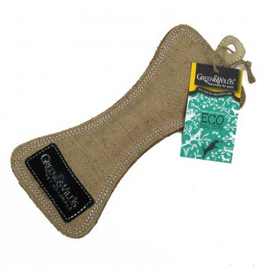 Green & Wild's Funny Bone -Eco Dog Toy- Made in UK