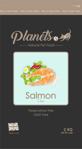Planets Salmon Classic Gluten Free - Dry Dog Food 2kg / 6kg (Made in UK)
