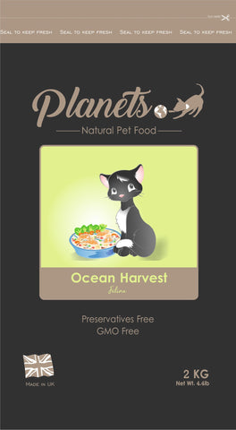 Planets Ocean Harvest Feline - Dry Cat Food 2kg / 6kg (Made in UK)