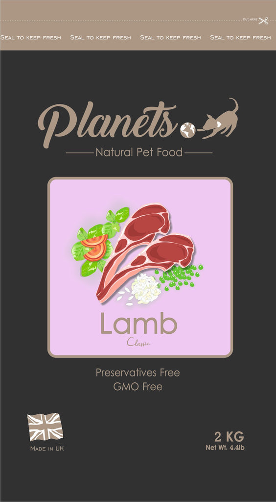 Planets Lamb Classic Gluten Free - Dry Dog Food 2kg / 6kg (Made in UK)