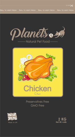 Planets Chicken Classic - Gluten Free - Dry Dog Food 2kg / 6kg (Made in UK)