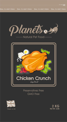Planets Chicken Crunch - Large Breed / Joint Care - Gluten Free - 2kg / 6kg Made in UK