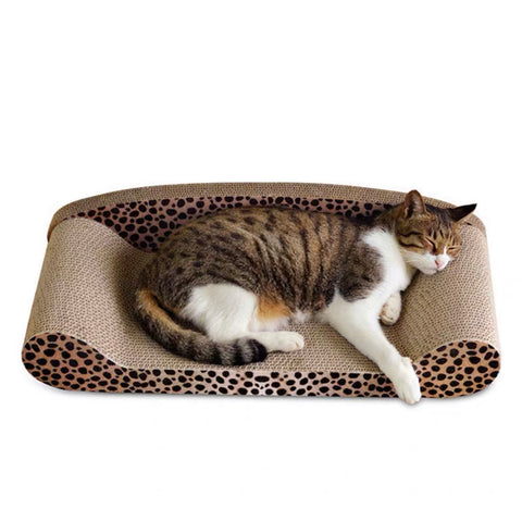 Cat Corrugated Scratch Toy Bed Lounger Shape     貓抓梳化