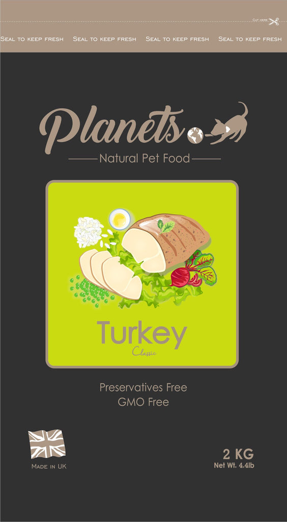 Planets Turkey Classic - Gluten Free - Dry Dog Food - 2kg / 6kg Made in UK