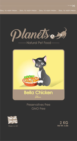 Planets Bella Chicken Feline Dry Cat Food 2kg / 6kg (Made in UK)