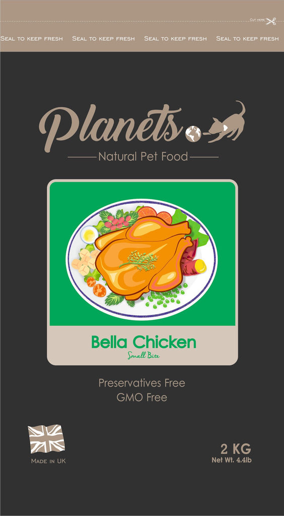 Planets Bella Chicken - Small Bite - Grain Free - Dry Dog Food 2kg / 6kg Made in UK