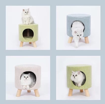 Pet House Stool Home Bed with Removable Cushion       貓咪房子