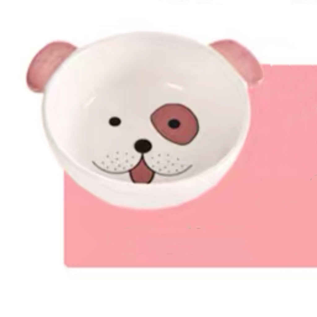 Dog Face Pet Bowl    狗圖案食盆