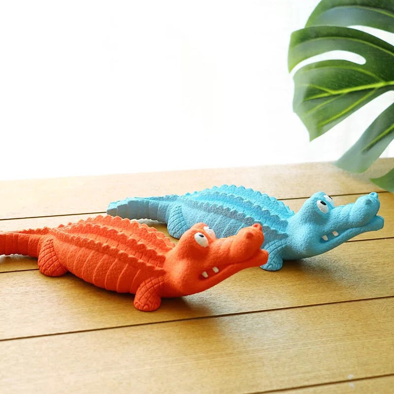 Elite Crocodile Squeaky Dog Toy       鱷魚狗玩具
