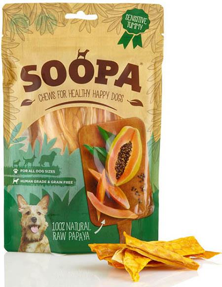 SOOPA - 100% Natural Papaya Dog Treats 85g -
