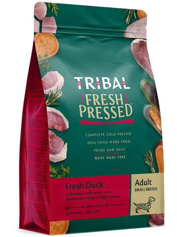 Tribal - Adult Small Breeds DUCK Grain Free Cold Pressed Dry Dog Food 1.5kg - Made in UK
