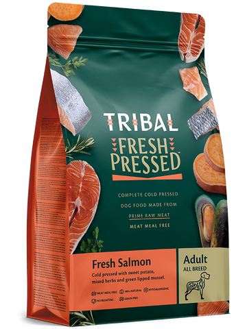 Tribal - Adult Salmon Grain Free Cold Pressed Dry Dog Food 2.5kg/12kg - Made in UK