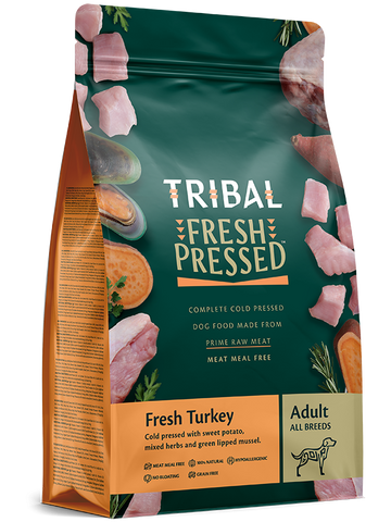 Tribal - Adult Turkey Grain Free Cold Pressed Dry Dog Food 2.5kg/12kg - Made in UK