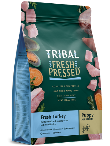 Tribal - Puppy Turkey Grain Free Cold Pressed Dry Dog Food 2.5kg/5kg - Made in UK