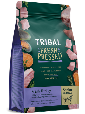 Tribal - Senior/Light Turkey Grain Free Cold Pressed Dry Dog Food 2.5kg/12kg - Made in UK