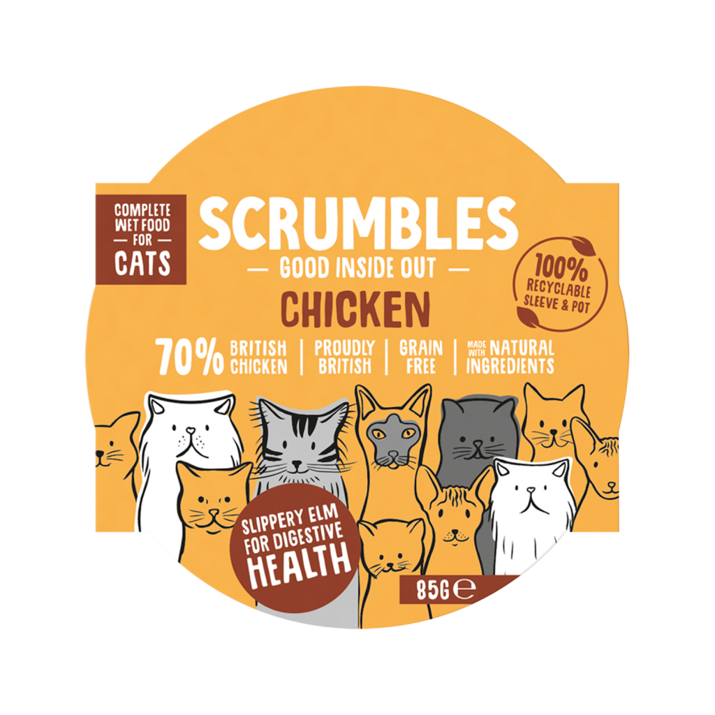 Scrumbles Grain Free Chicken Wet Cat Food 85g Made in UK