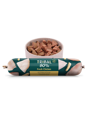 Tribal Gourmet Sausage - 80% Chicken - Grain Free 750g -  Made in UK