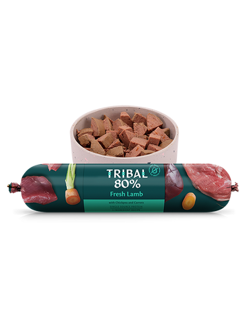 Tribal Gourmet Sausage - 80% Lamb - Grain Free 750g -  Made in UK