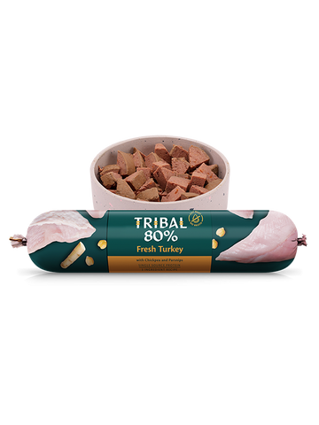 Tribal Gourmet Sausage - 80% Turkey - Grain Free 750g -  Made in UK