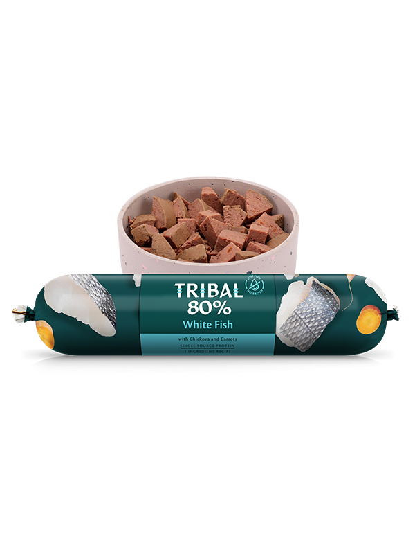 Tribal Gourmet Sausage - 80% White Fish - Grain Free 750g -  Made in UK
