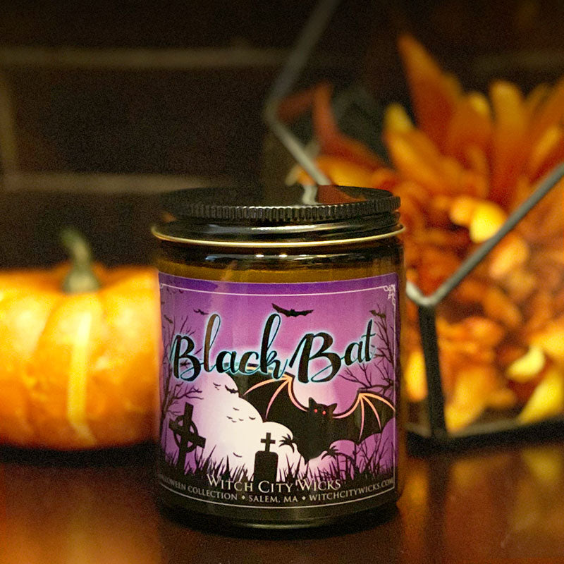 Black Bat jar candle