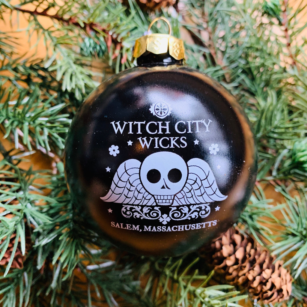 Witch City Wicks glass ornament