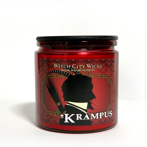 Krampus jar candle