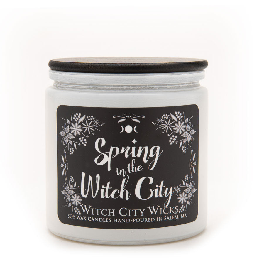 Spring in the Witch City jar candle