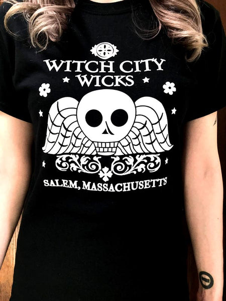 Witch City Wicks logo t-shirt