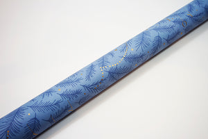 Uncoated Tree Lights French Blue/Gold Gift Wrap