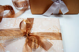 Uncoated Under the Mistletoe Champagne/Copper Gift Wrap