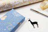 Pack of tags - Merry Christmas and Deer (black) gift tag
