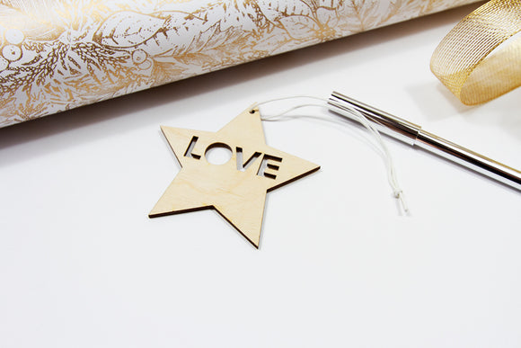 LOVE Birch ornament