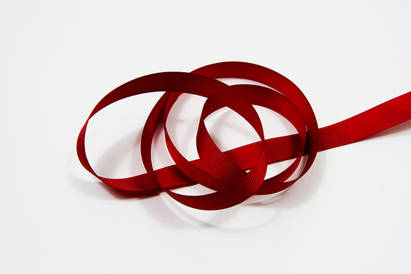 Plain Grosgrain Red Ribbon - 15 mm  5 metres