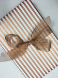 Candy Cane Gold and White Wrap-gift wrap-dear mabel