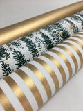 Candy Stripe Gold Gift Wrap