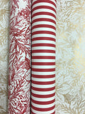 Fleur de Noel Red and White Gift Wrap