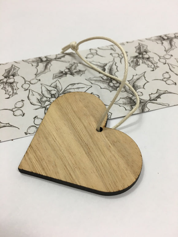 Solid Heart BLUEGUM ornament