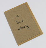 A Love Story A6 Card-Gift Card-kraft-dear mabel