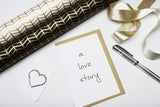 A Love Story A6 Card-Gift Card-white linen-dear mabel