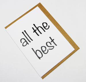 all the best A6 Card-Gift Card-white linen-dear mabel