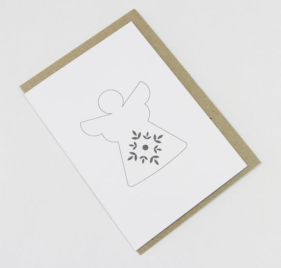 Angel A6 Card-Gift Card-white linen-dear mabel