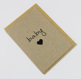 Baby Heart A6 Card-Gift Card-kraft-dear mabel