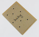 Baby Shower Hearts A6 Card-Gift Card-kraft-dear mabel