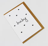 Baby Shower Hearts A6 Card-Gift Card-white linen-dear mabel