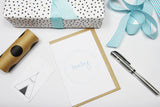 Baby Wreath Light Blue A6 Card-Gift Card-white linen-dear mabel